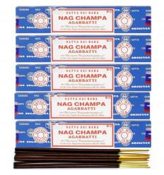 Encens Nag Champa. Lot de 60 bâtonnets marque Satya Sai Baba