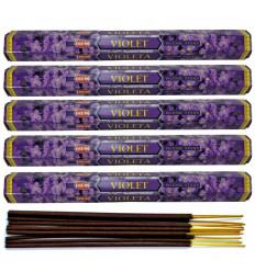 Incense And Violet. Lot of 100 sticks brand HEM