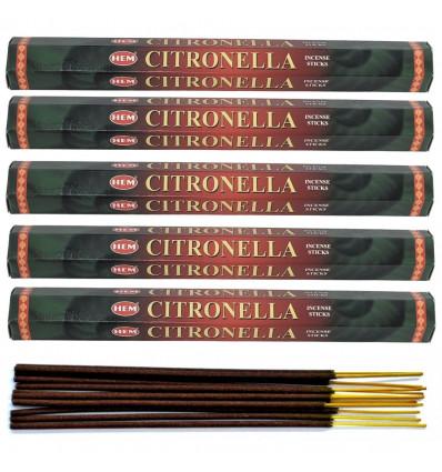 Incense fragrance Lemongrass. Lot of 100 sticks brand HEM