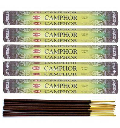 Lot 100 bâtonnets d'encens indien naturel Camphre (Camphor) HEM