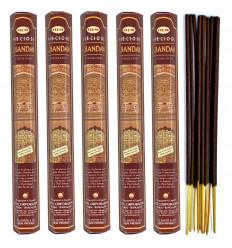 Encens parfum Santal Précieux (Precious Chandan) Lot de 100 bâtons marque HEM