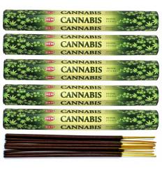 Incenso fragranza di Cannabis. Lotto di 100 bastoncini marca HEM