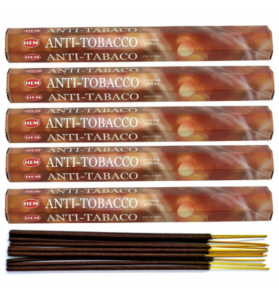 Incense Anti-Tobacco. Lot of 100 sticks brand HEM