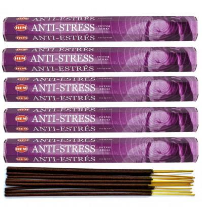 Incense Anti Stress. Lot of 100 sticks brand HEM