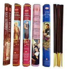 Incenso, dei Santi Protettori. Assortimento di 5 varietà (100 bastoncini), marca ORLO.