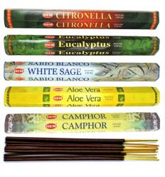 """Assortiment d'encens - Bouquet """"Plantes Médicinales"""" (5 parfums). Lot de 100 bâtons marque HEM"""