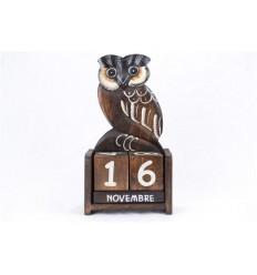 Calendario perpetuo Gufo Gufo in legno