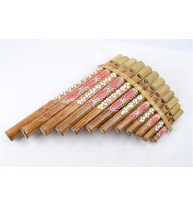 Flute de Pan en bambou (grand modele) Instrument de musique ou objet deco !