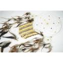 Attrape rêve XL 26cm / Capteur de reve 3 anneaux en velours blanc